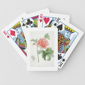 Peony, 1799 (colour stipple print) bicycle playing cards