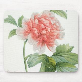 Peony 1799 colour stipple print mousepad