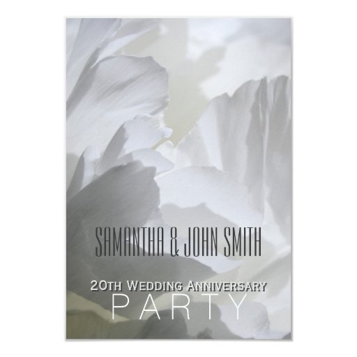What Is The Gift For 20th Wedding Anniversary: Peony 20th Wedding Anniversary Party Invitation 1