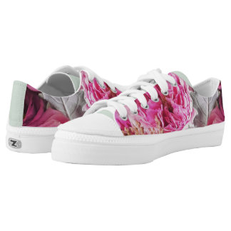 Peony and Rose Floral Sneakers