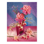 Peony and Roses Postcard