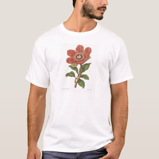 Peony, Antique Victorian Botanical Image T-Shirt