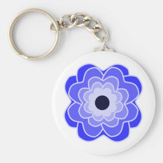 Peony Blue Key Ring