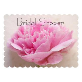 Peony closeup bridal shower 13 cm x 18 cm invitation card