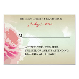 Peony Floral Wedding RSVP Response Cards