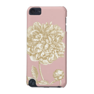 Peony Flower Botanical Pink and Gold iPod Touch (5th Generation) Cases