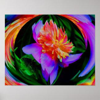 Peony Flower Energy Art Floral Print