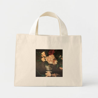Peony Flowers by Edouard Manet Mini Tote Bag