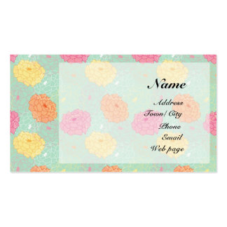 Peony garden business card template