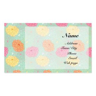 Peony garden business card template