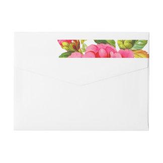 Peony Garden Floral | Bridal Shower Address Labels Wraparound Return Address Label