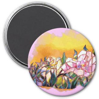 Peony Glass Art Designer s Magnets large