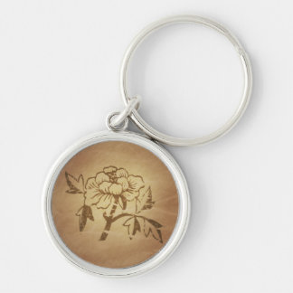 Peony Love and Affection Chinese Magic Charms Key Ring