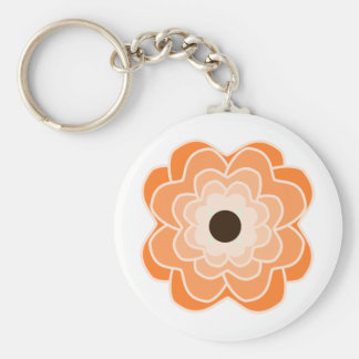 Peony Orange Key Ring