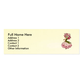 Peony Pack Of Skinny Business Cards