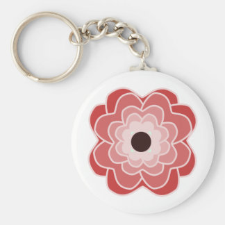 Peony Red Key Ring
