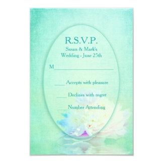PEONY REFLECTION - RSVP CARDS 9 CM X 13 CM INVITATION CARD