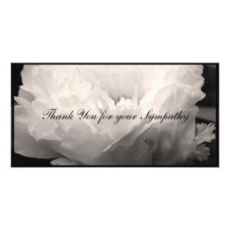 Peony Sympathy Thank You Photo Card 1