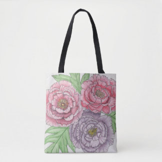 Peony Tote-bag (Watercolour) Tote Bag