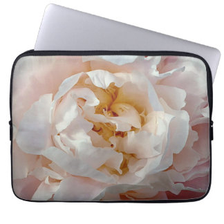 Peony Watercolor Design in Delicate Pinks Laptop Computer Sleeve