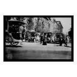 People and Traffic in Berlin, Germany 1913 Print