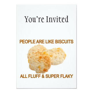 People Are Like Biscuits 13 Cm X 18 Cm Invitation Card