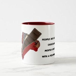 people are like chocolate coffee mug