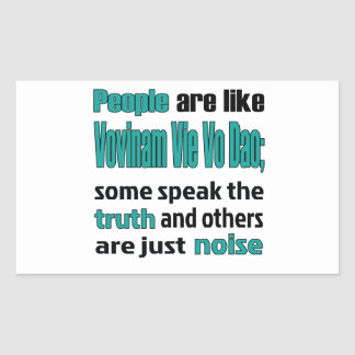 People are like Vovinam vie vo dao. Rectangular Sticker