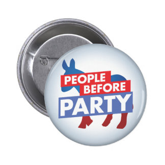 People Before Party - Democrat Button