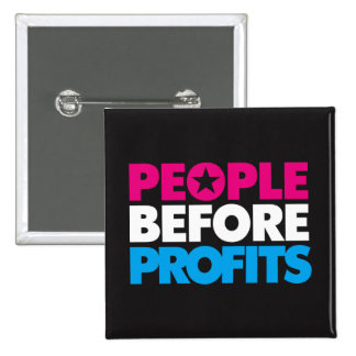 People Before Profits Button