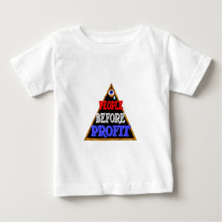 People before profits Occupy wall street protest Baby T-Shirt