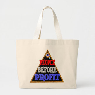 People before profits Occupy wall street protest Canvas Bags