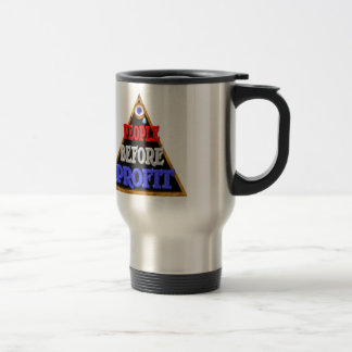 People before profits Occupy wall street protest Stainless Steel Travel Mug