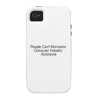 People Can't Memorize Computer Industry Acronyms Case For The iPhone 4
