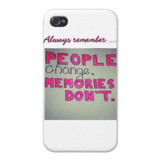 People change , Memories don't Phone Case iPhone 4/4S Covers