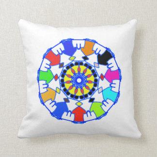 People circle pattern cushion