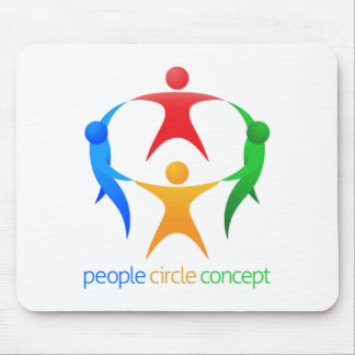 People Circle Team Concept Mouse Pad