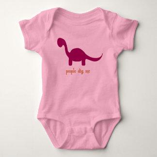 People Dig Me-Pink Baby Bodysuit