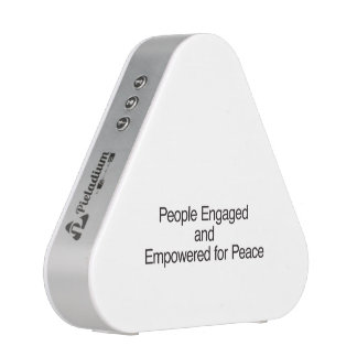 People Engaged and Empowered for Peace.ai Bluetooth Speaker