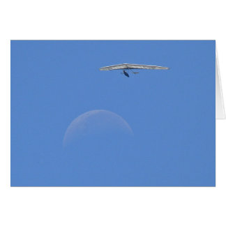 People Flew Over the Moon at Noon Greeting Card