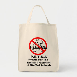 People For The Ethical Treatment of Stuffed Animal Canvas Bags