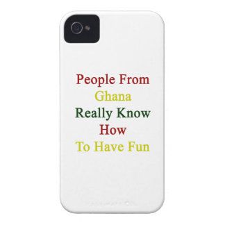 People From Ghana Really Know How To Have Fun iPhone 4 Case-Mate Case