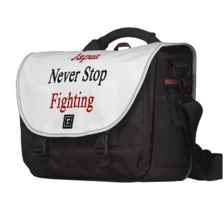 People From Japan Never Stop Fighting Laptop Computer Bag