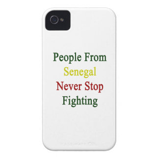 People From Senegal Never Stop Fighting Case-Mate iPhone 4 Case