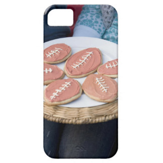 People holding plate of football cookies barely there iPhone 5 case