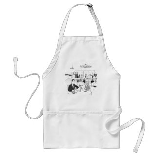 People in a Busy Restaurant Apron