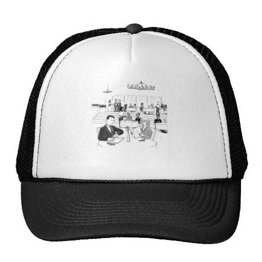 People in a Busy Restaurant Trucker Hats
