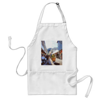 People in a shopping area standard apron