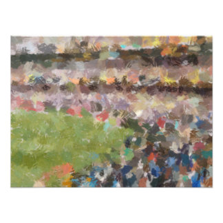 People in a stadium photographic print