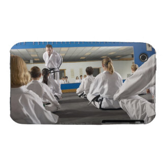 People in a tae kwon do class iPhone 3 Case-Mate cases